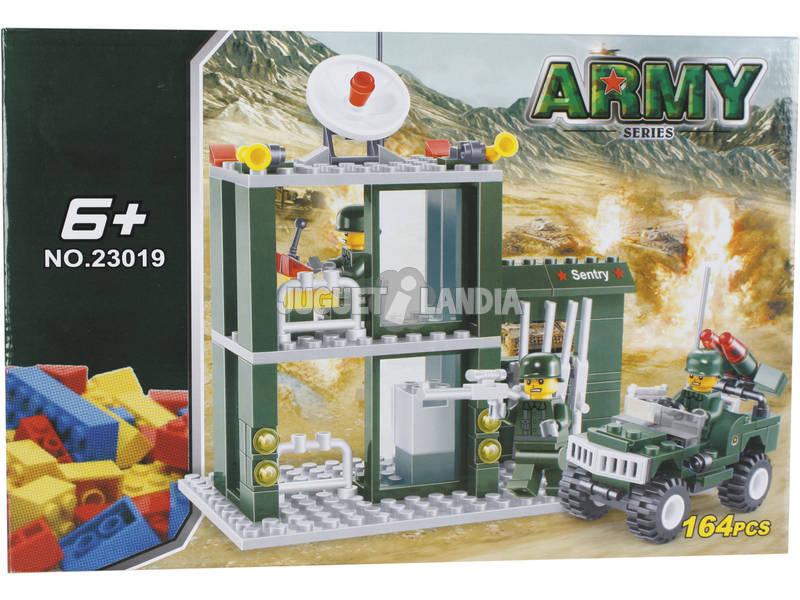 Construcción Puesto Vigilancia Militar con Vehículo 164 Piezas