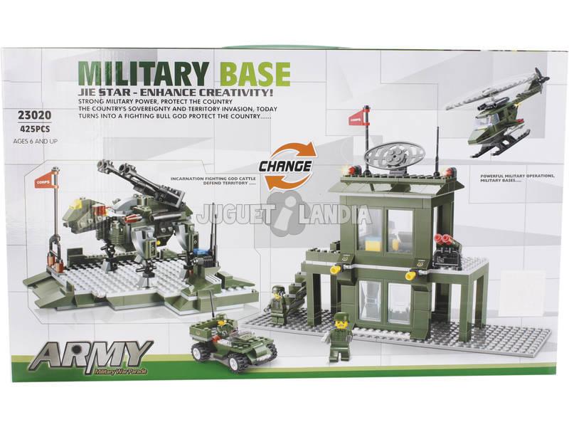 Gioco di Costruzione Base Militare Trasformabile 425 Pezzi