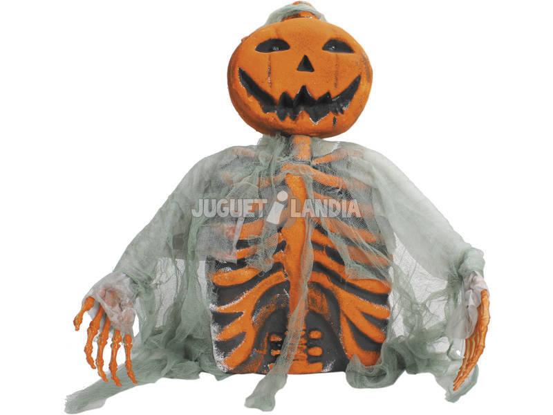 Esqueleto Calabaza Rompe Tumba C/Luz 32x10x53.5 cm