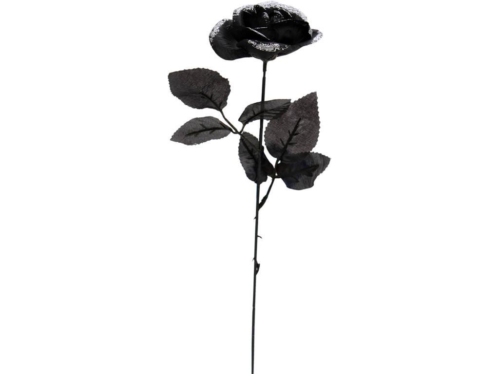 Rosa Negra Con Blanco 41 cm.