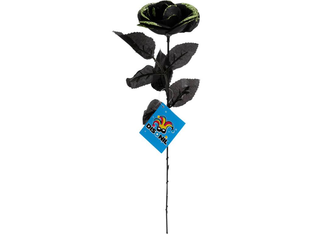 Rosa Negra Con Dorado 41 cm.