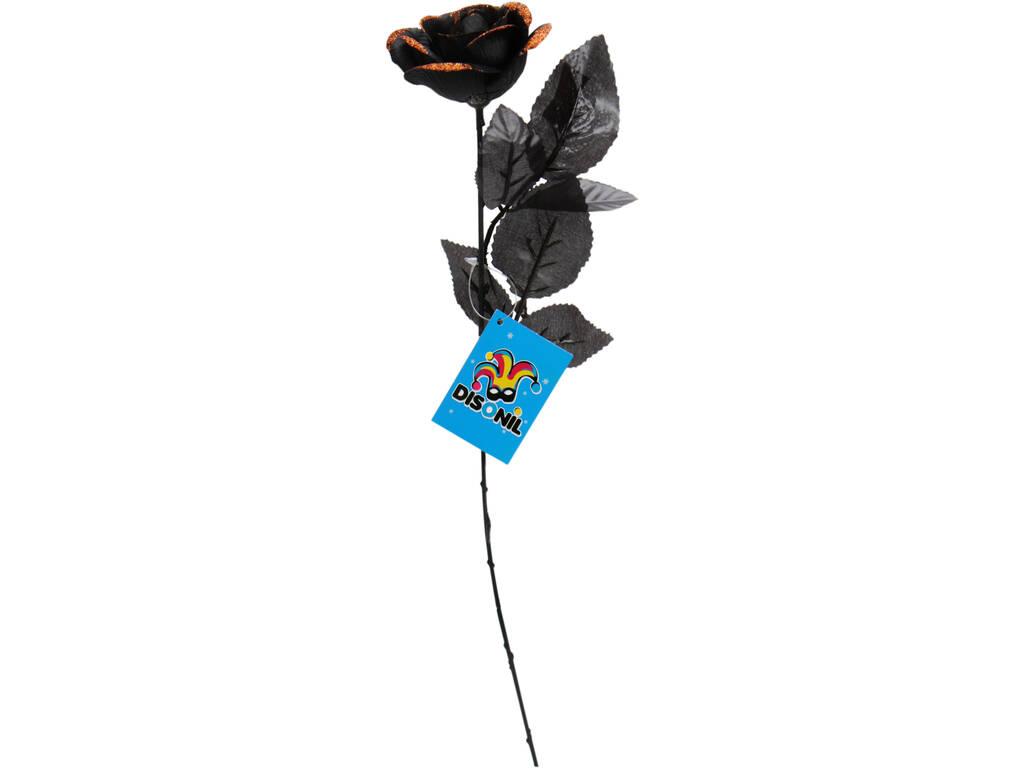 Rosa Negra Con Naranja 41 cm.