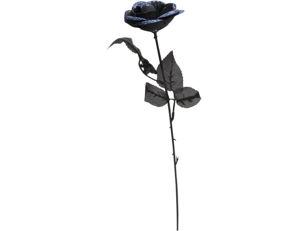 Rosa Negra Con Azul 41 cm.