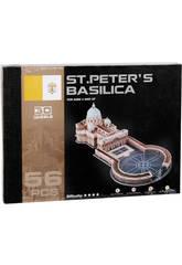 Puzzle 3D Plaza y Basilica de San Pedro 56 piezas