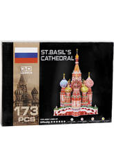 Puzzle 3D Catedral de San Basilio 173 piezas