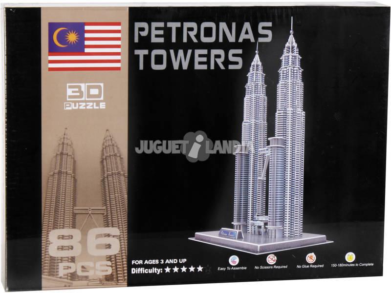 Puzzle 3D Torres Petronas 86 peças