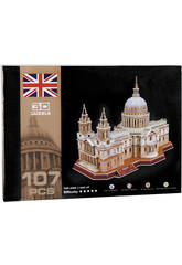 Puzzle 3D St Paul´s Cathedral 107 piezas