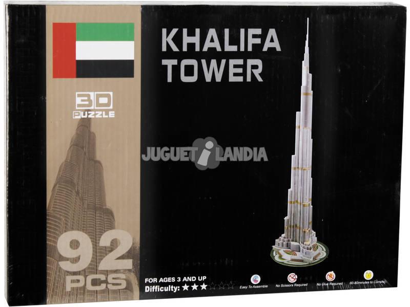 Puzzle 3D Torre Burj Khalifa 92 Peças