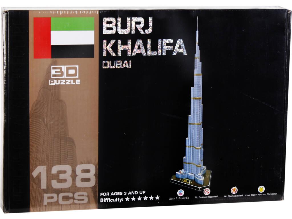 Puzzle 3D Burj Khalifa 138 Peças