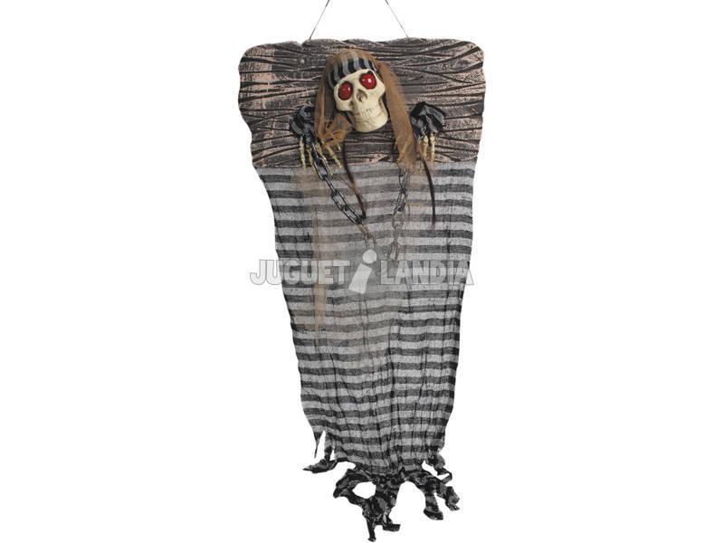 Esqueleto Prisionaiero com Luz 49x7x115 cm.