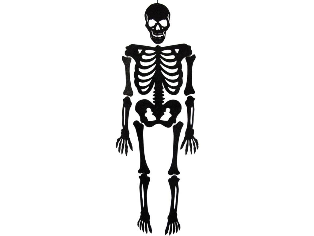 Esqueleto Negro Eva Con Brillo 155 cm.