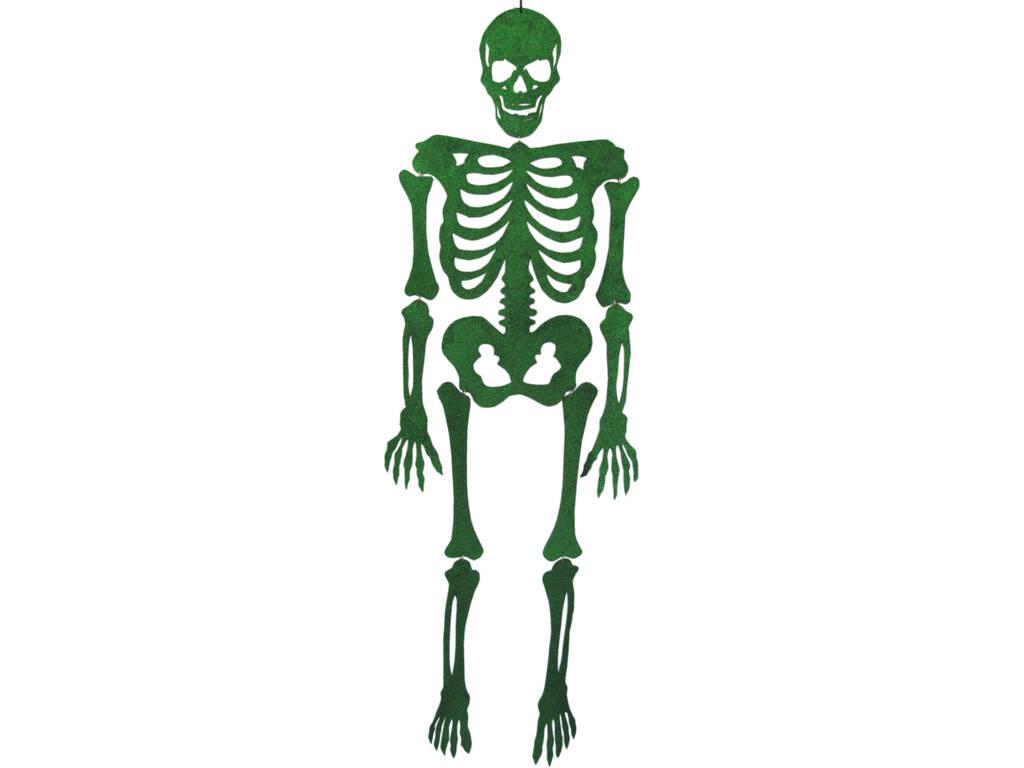 Esqueleto Verde Eva Com Brilho 155 cm.