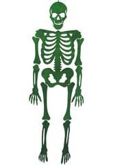 Esqueleto Verde Eva Con Brillo 155 cm.