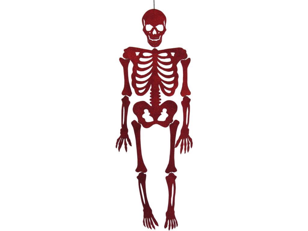 Esqueleto Rojo Eva Con Brillo 155 cm.