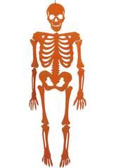 Esqueleto Naranja Eva Con Brillo 155 cm.