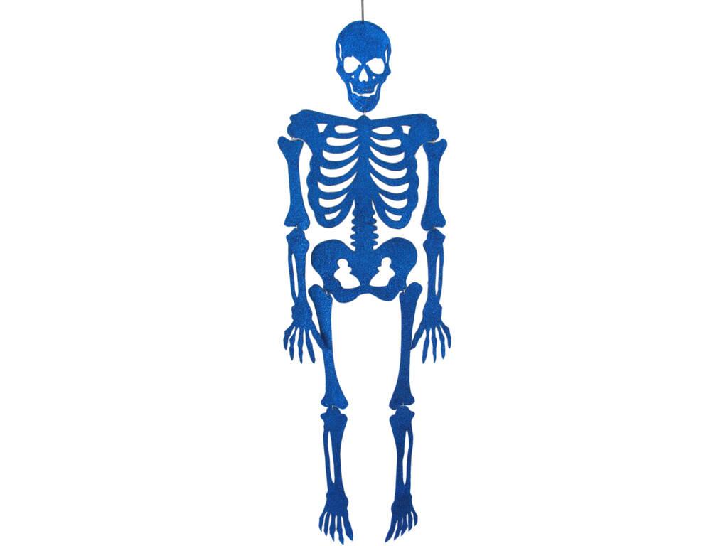 Esqueleto Azul Eva com Brilho 155 cm.
