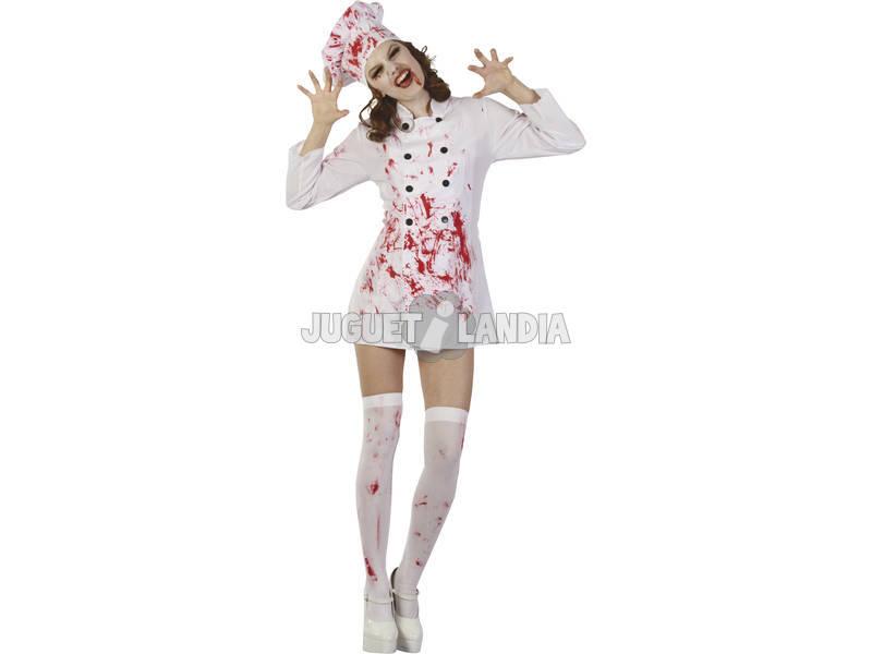 Disfraz Cocinera Sangrienta Mujer Talla L