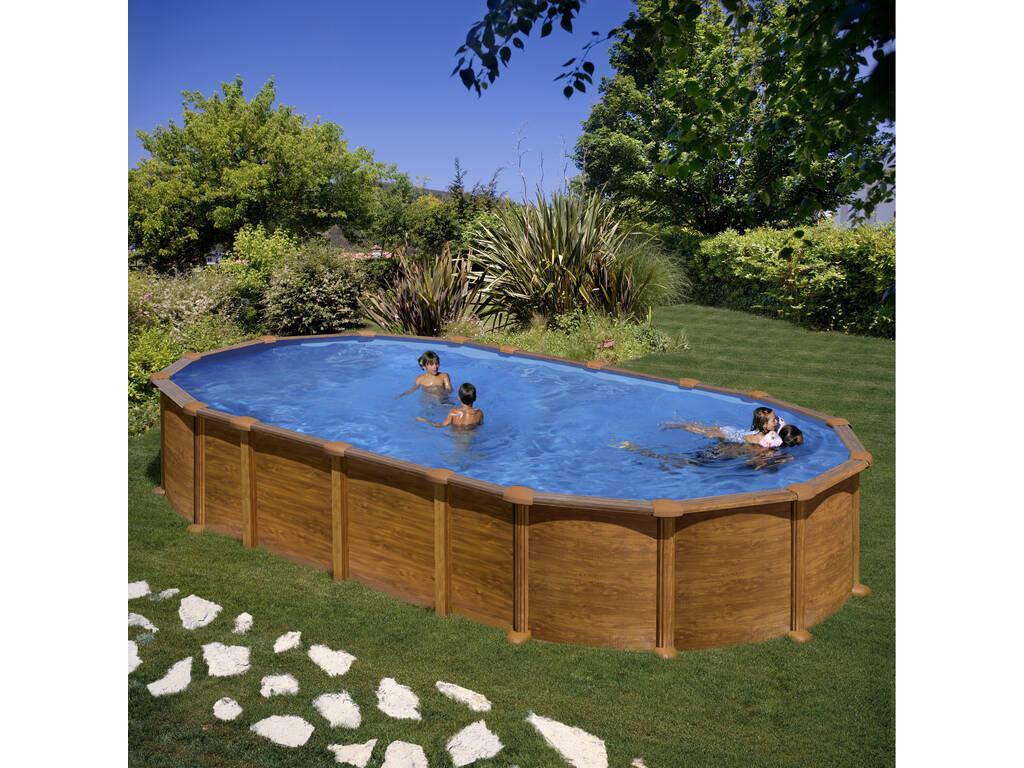 Acheter piscine gre imitation bois amazonia 610 x 375 x for Acheter piscine bois