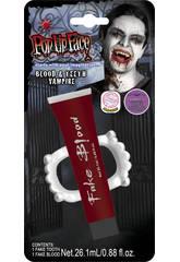 Set Vampiro con Sangre y Dentadura