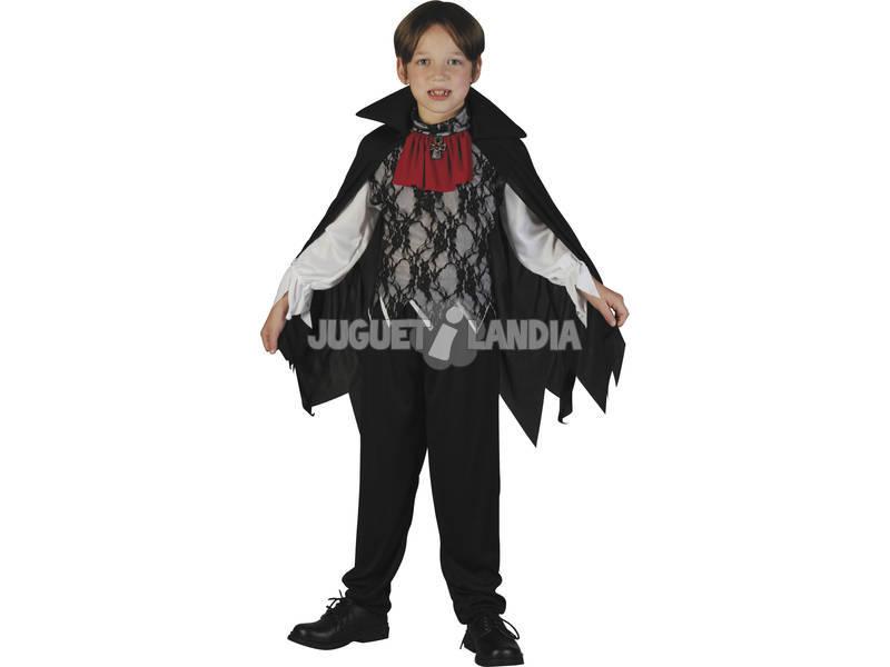 Fantasia Vampiro com Capa Menino Tamanho L