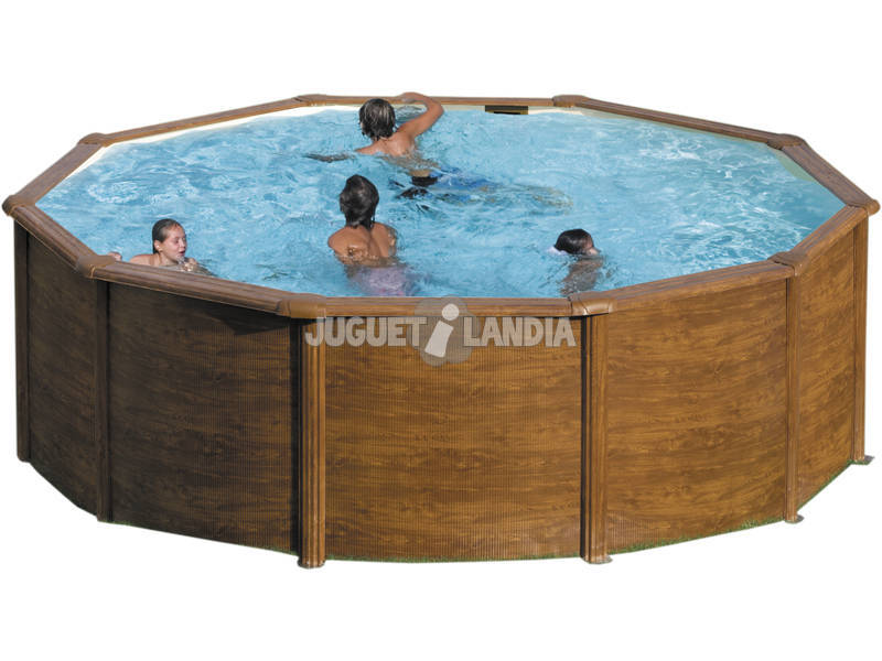 Piscina Imitación Madera Mauritius 550x132 cm. Gre KITPR558WO
