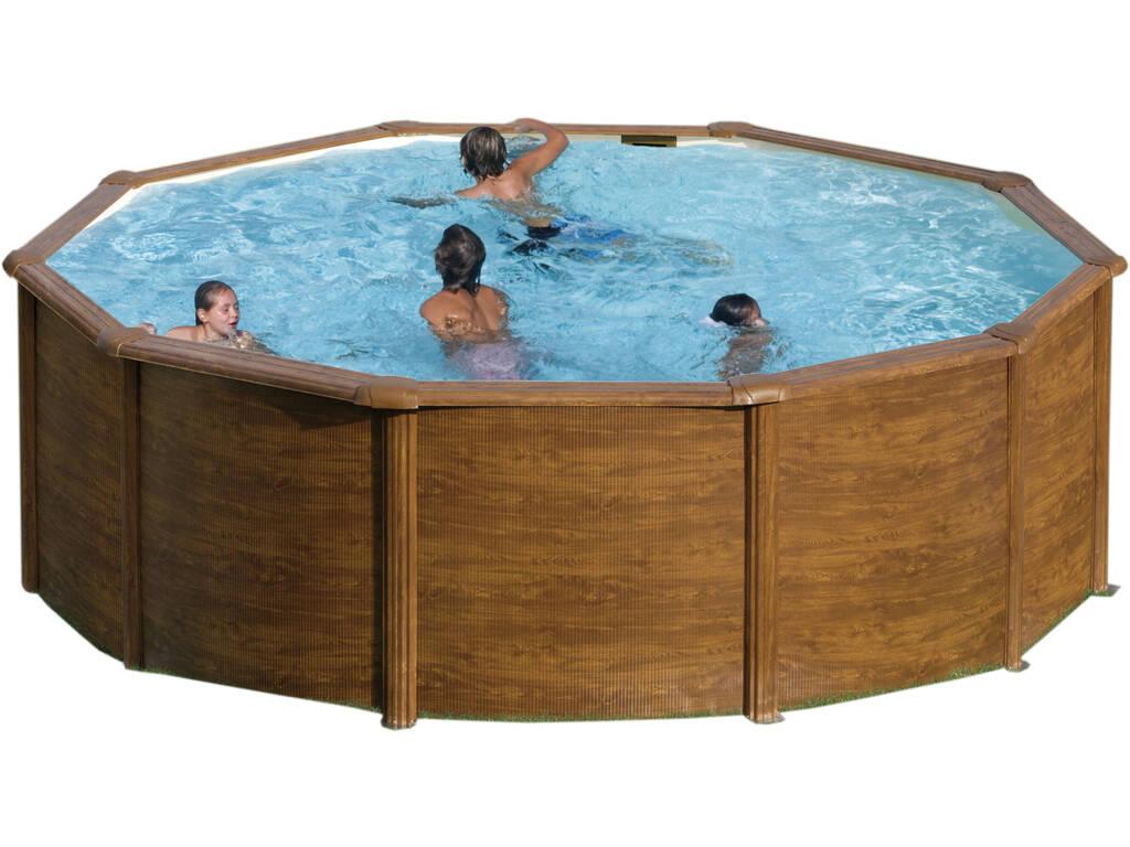 Madeira de imitação de piscina Maurício 350x132 Cm Gre KITPR358WO