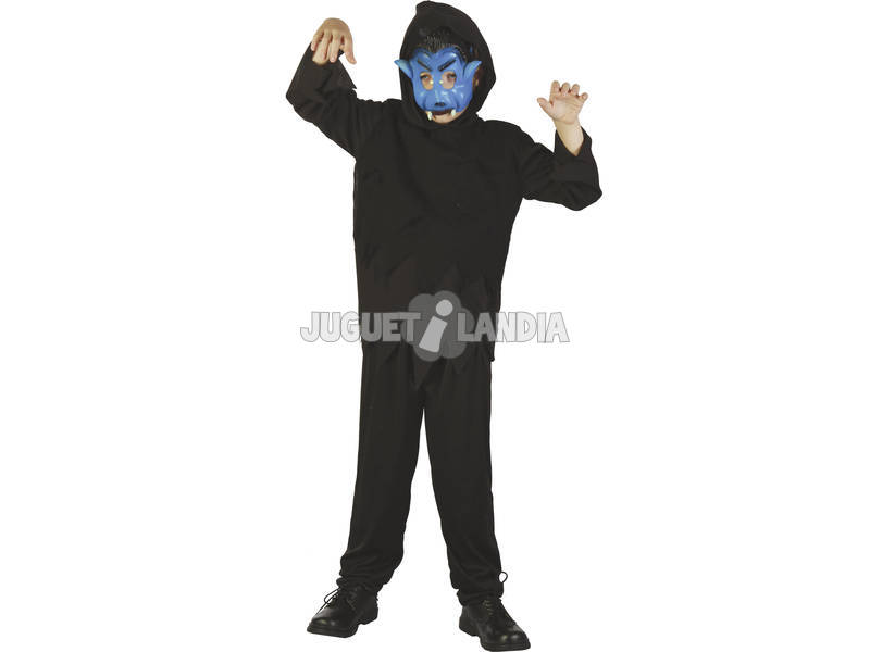 Maschera Mostro Nero Bambino Taglia S