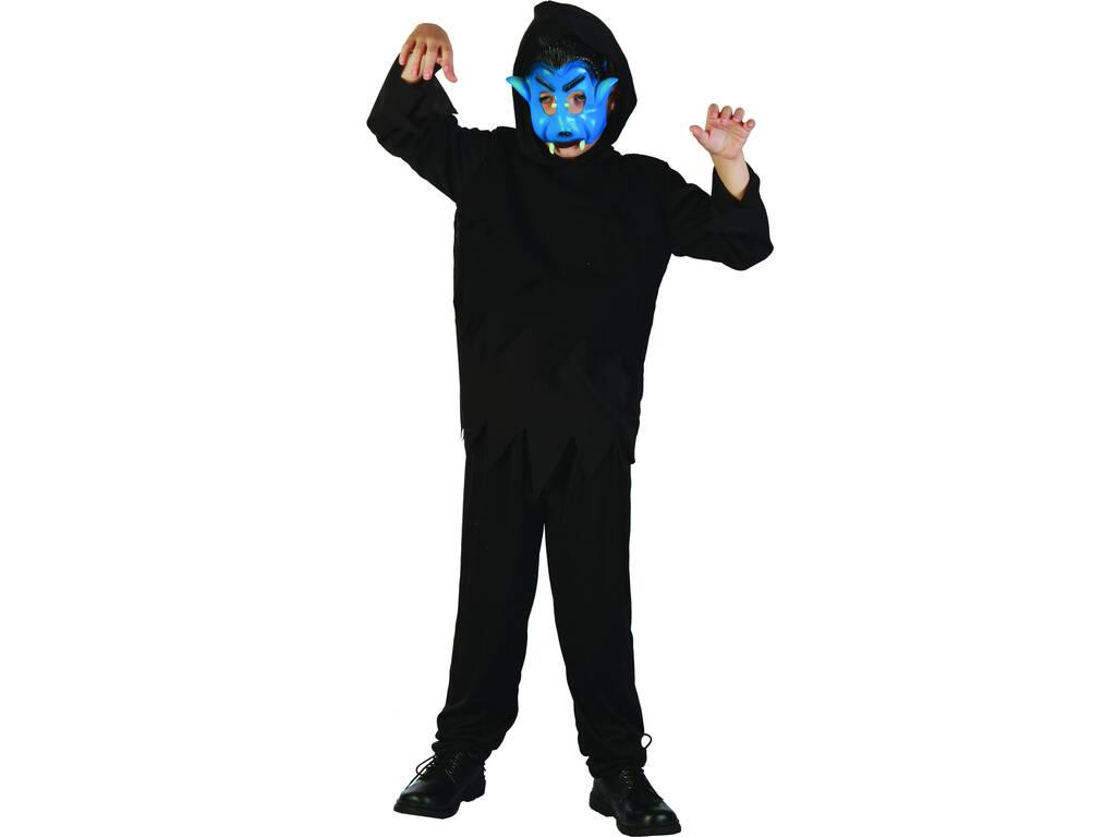 Fantasia Monstro Negro Menino Tamanho L