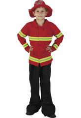 Déguisement de pompier pour garçon taille M