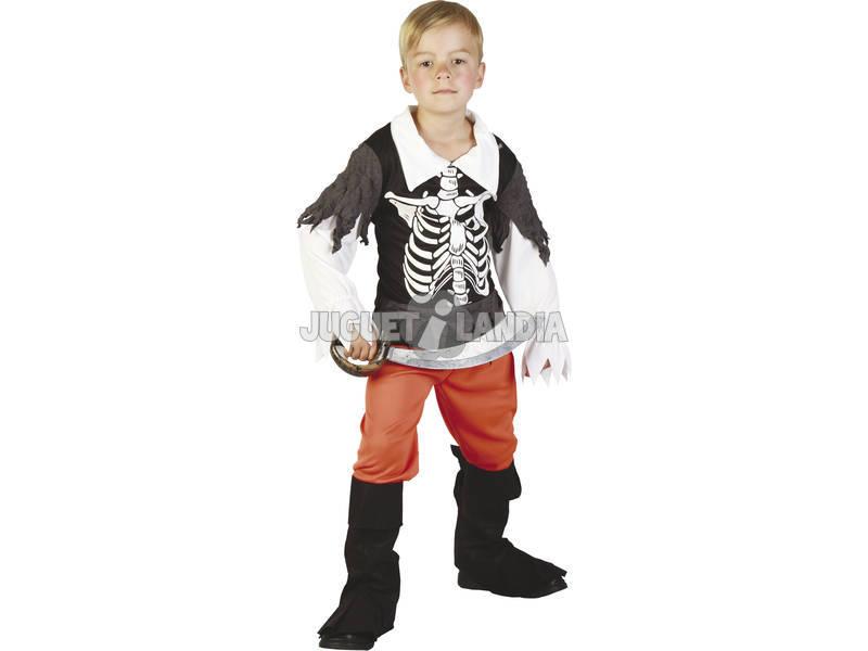 Fantasia Pirata Esqueleto Menino Tamanho XL