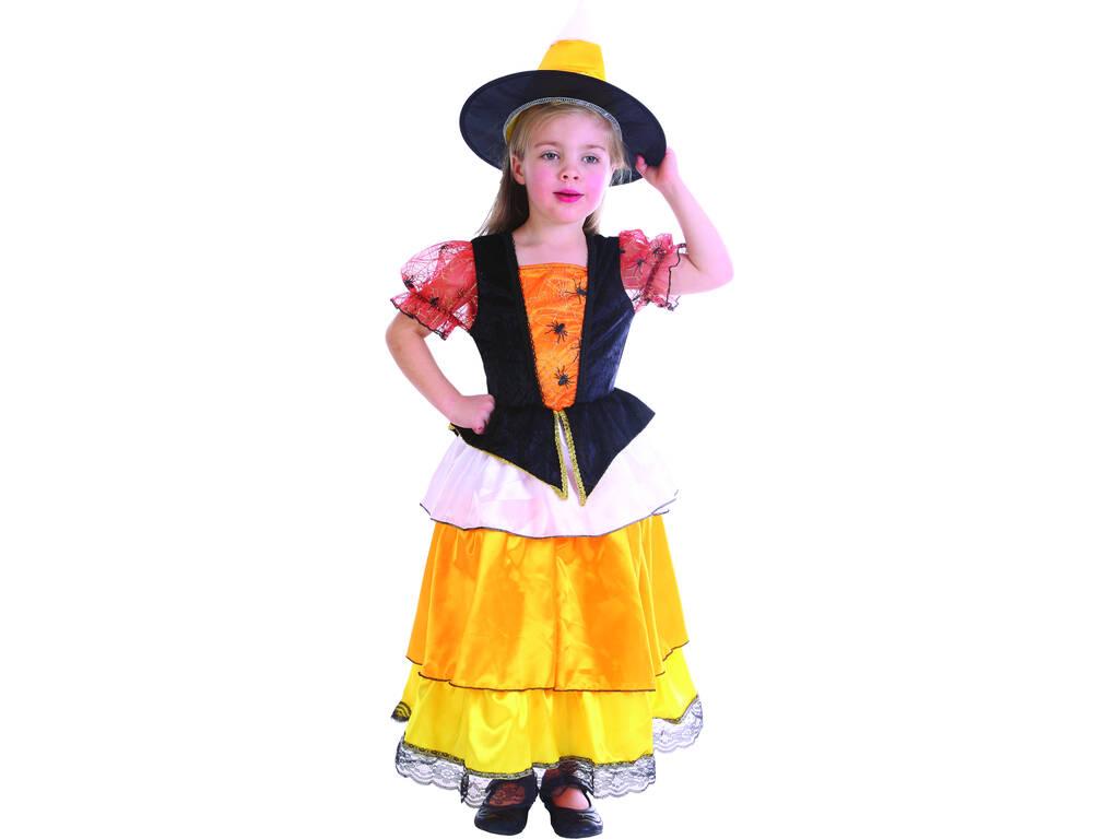 Maschera Strega Ragno Arancione Bebè Taglia S