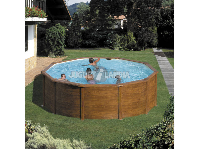 Acheter piscine gre imitation bois maldivas 360 x 132 cm for Acheter piscine en bois