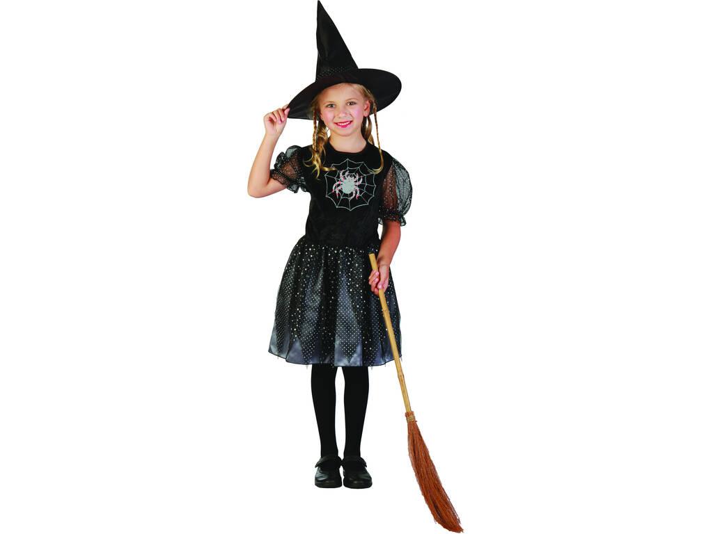 Fantasia Bruxa Aranha Misteriosa Menina Tamanho M