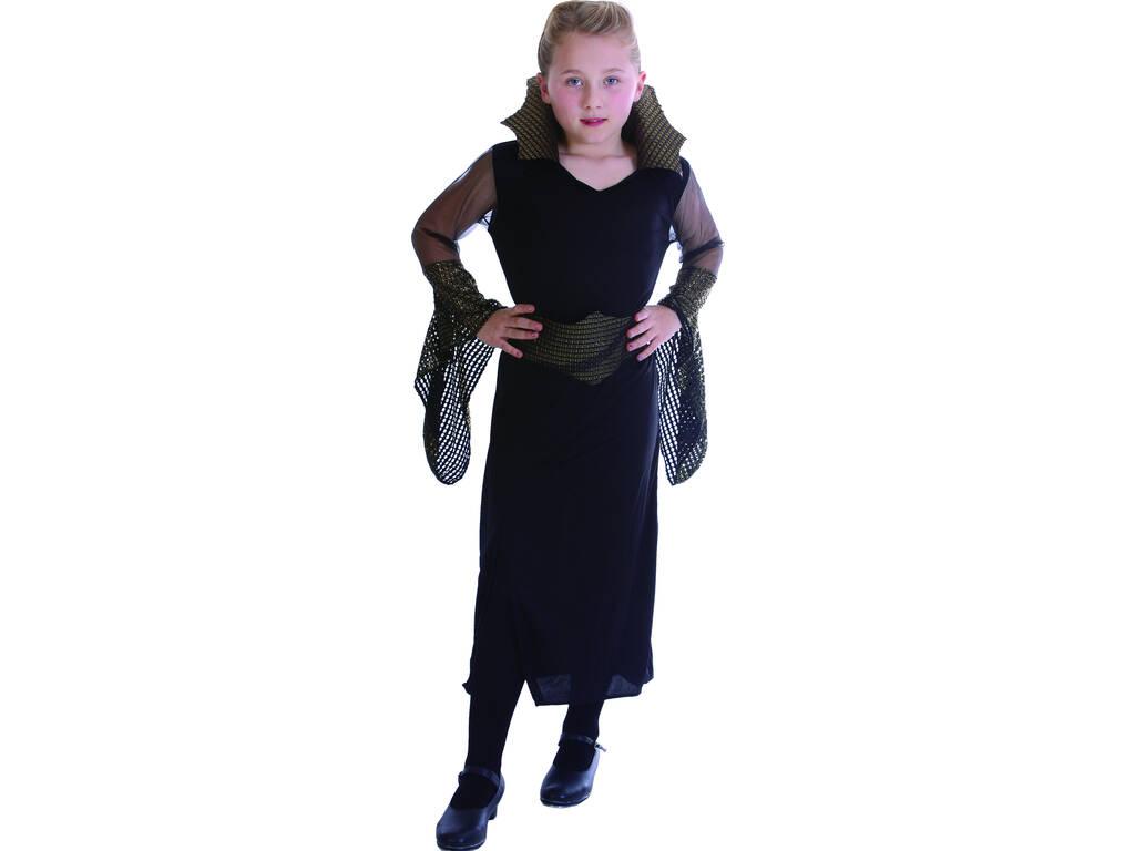 Fantasia Viúva Negra Malvada Menina Tamanho S