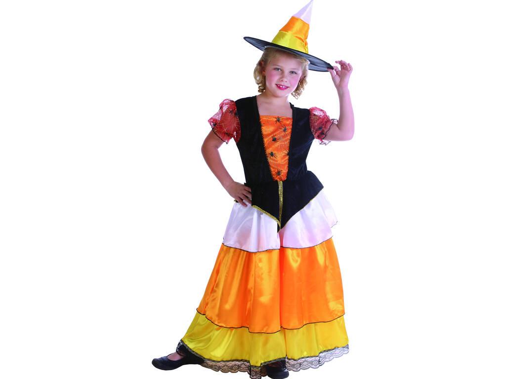 Disfraz Bruja Calabaza Elegante Niña Talla L