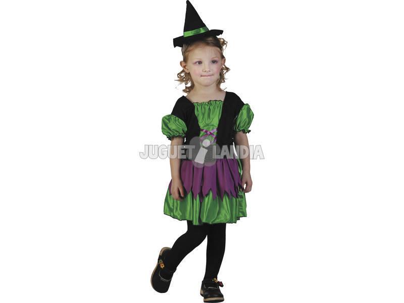 Fantasia Bruxa Bebé Verde Tamanho S
