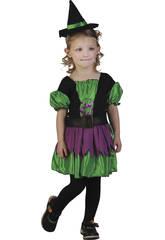 Disfraz Bruja Bebé Verde Talla S