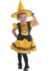 Disfraz Bruja Bebé Naranja Talla S