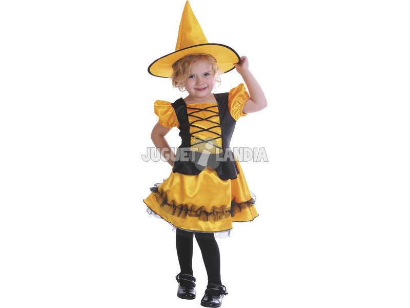 Bruxa traje bebê laranja tamanho m