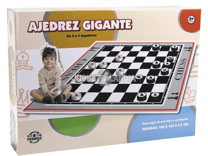 Alfombra Ajedrez 180x160x0.5 cm.