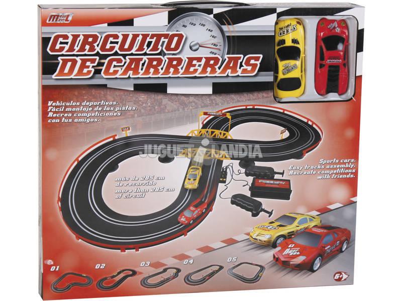 Circuito De Corridas 285 cm. Com 2 Carros