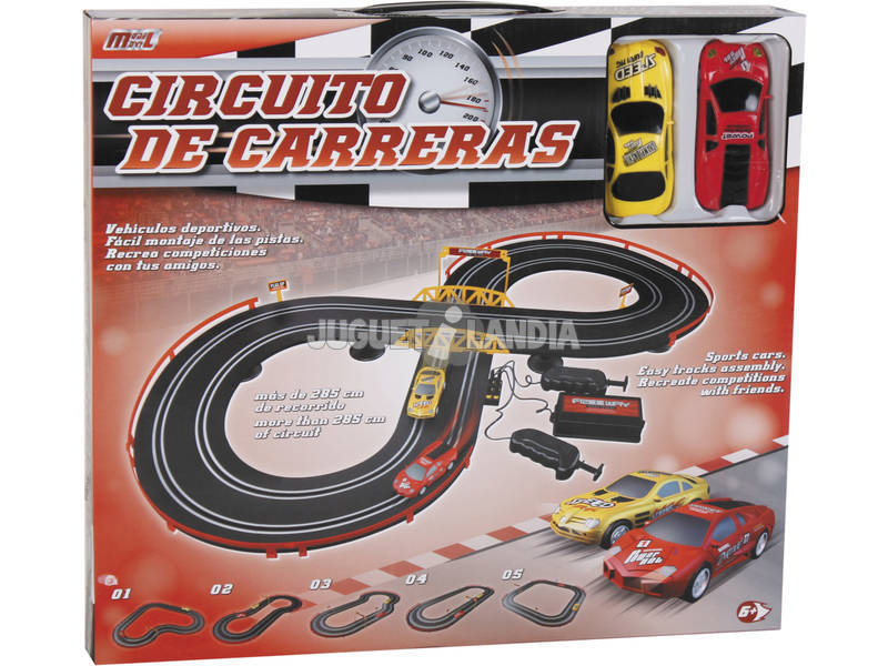 Circuito De Carreras 285 cm. CON 2 Coches