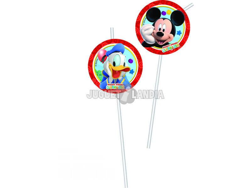 Mickey Mouse pack 6 Pailles