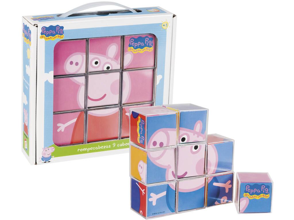 Peppa Pig Puzzle 9 Cubos Cefa Brinquedos 88233