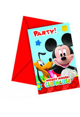 Mickey Mouse pack 6 invitaciones-sobres