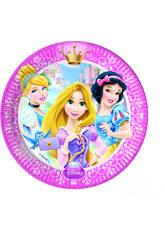 Principesse Glamour pack 8 piatti 23 cm.