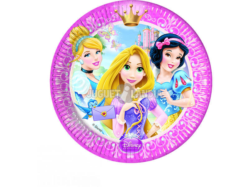 Princesas Glamour pack 8 pratos 20 cm.