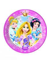 Princesses Glamour Pack 8 Assiettes 20cm.