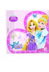 Princesas  Glamour pack 20 servilletas 33x33 cm.