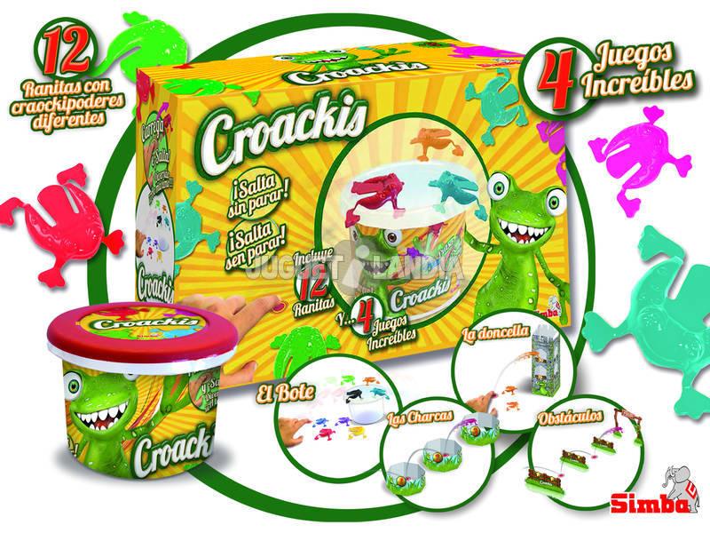 Croakis 12 Ranas con Flyer y 3 Juegos